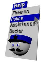 MENU HELP POLICE - 3D