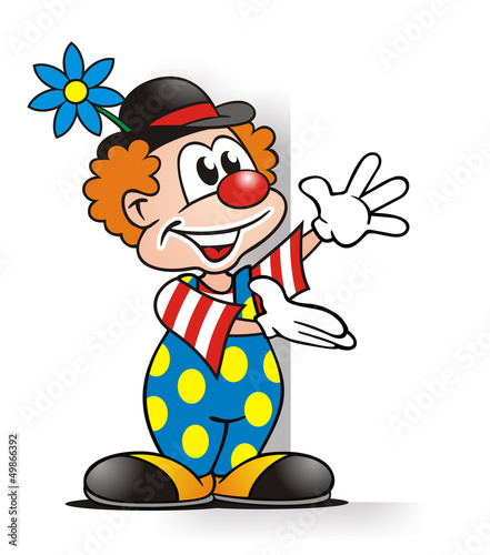 Clown With Board Stock Photo And Royalty Free Images On Fotolia Com