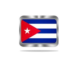 Metal Cuba flag.