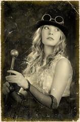 Portrait of a Girl. Processing retro.