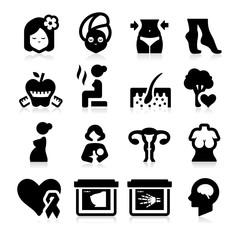 Women Health Care Icons