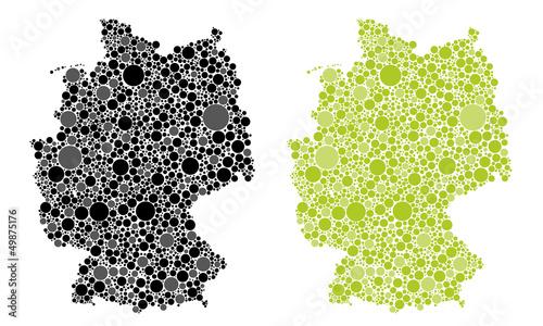 deutschland karte punkte Deutschland Karte Punkte