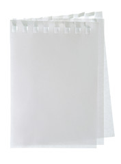 Blank note paper isolated white