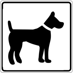 Papier Peint - Schild weiß - Hundepension