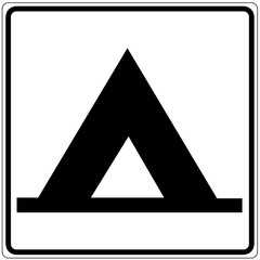Papier Peint - Schild weiß - Zeltplatz