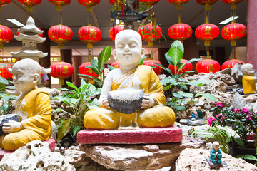 Little Buddha Rock in Chinese Temple