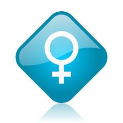 sex blue square glossy web icon
