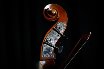 Vintage double bass head