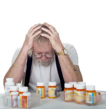 senior with too many prescriptions