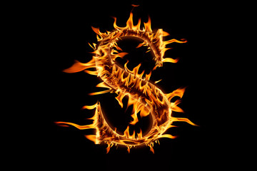 """Fire flaming letter """"S"""""""