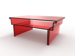 Red Glass Table Outline