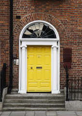 Closed door of a house,Dublin,Republic of Ireland