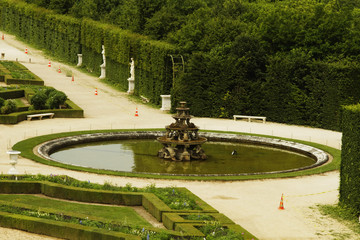 Formal garden,Chateau de Versailles, Versailles, Paris, France