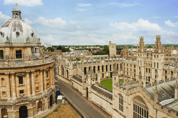 University buildings in a city, Oxford University, Oxford