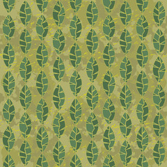 seamless green leaves background grunge camouflage
