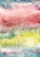 Abstract color background from watercolor