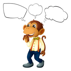 The male monkey with empty thoughts