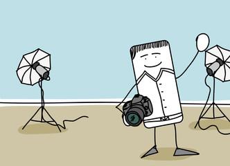 Photographe dans un studio
