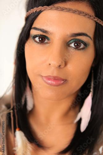 indianerin stockfotos und lizenzfreie bilder auf bild 49908980. Black Bedroom Furniture Sets. Home Design Ideas