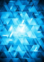 Photo sur Toile ZigZag Vibrant blue hi-tech vector design