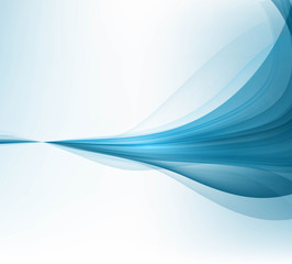 abstract blue business technology colorful wave illustration