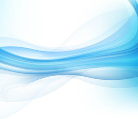 abstract blue business technology colorful wave vector