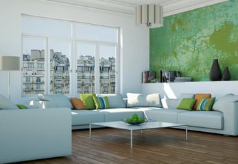 Wohnzimmer in Stadtwohnung