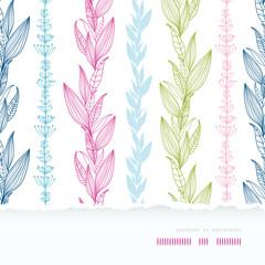 Vector floral stripes elegant vertical horizontal torn seamless