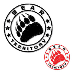 Bear footprint stamp