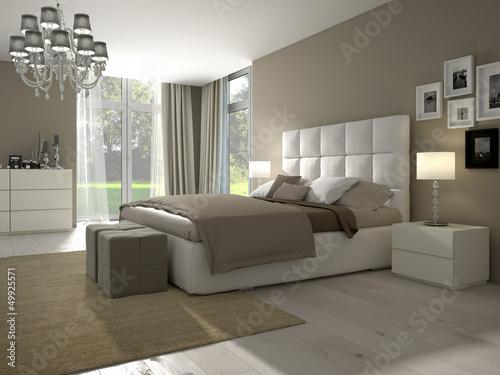 modernes schlafzimmer mit dekoration\