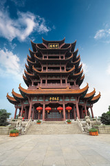Fototapete - the yellow crane tower in wuhan