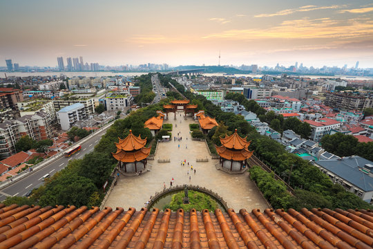 wuhan city panorama