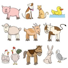 farm animal stock collection