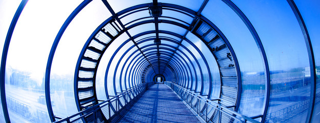 Interior blue tunnel