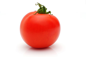 Fresh tomato isolated on white background