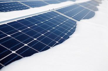 snow-covered solar panel
