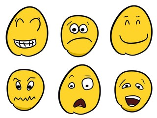Smileys set - cartoon emoticons