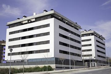 Urbanization with buildings