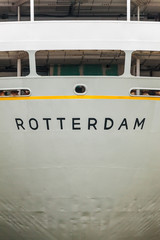 Rear side of an old Rotterdam based cruise ship