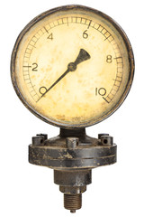 Old industry display mano meter
