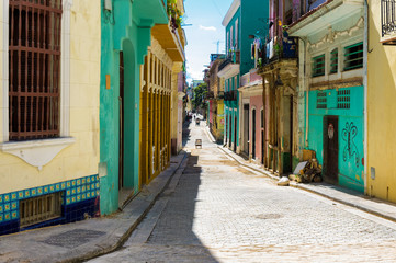 Papiers peints La Havane Colorful street in Old Havana