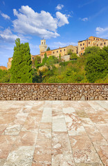 Wall Mural - terrace by the tuscany, montepulciano