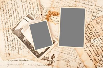 Old letters and photos