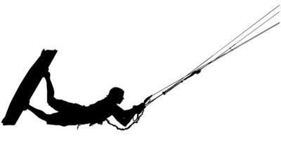 Wakeboard silhouette