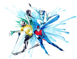 Canvas Prints Winter sports winter sports