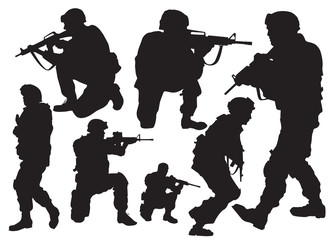 soldier vector silhouettes