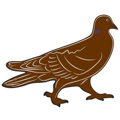An a vector illustration of dove