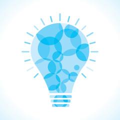 Blue circle bulb background