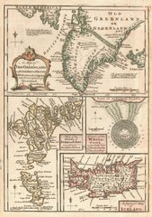 1747 North Atlantic islands map