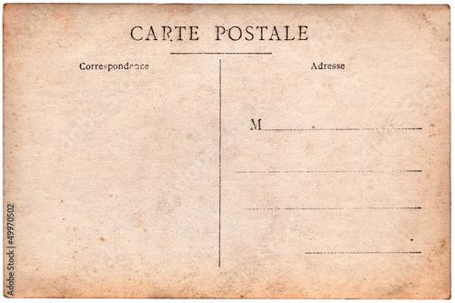 """""""Carte postale ancienne, verso vierge"""" photo libre de droits sur la banque d'images Fotolia.com ..."""